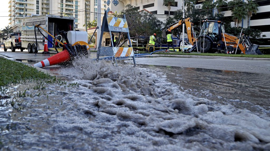 sewage spill in Ft. Lauderdale